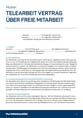 Arbeitsvertrag Muster Home Office PDF